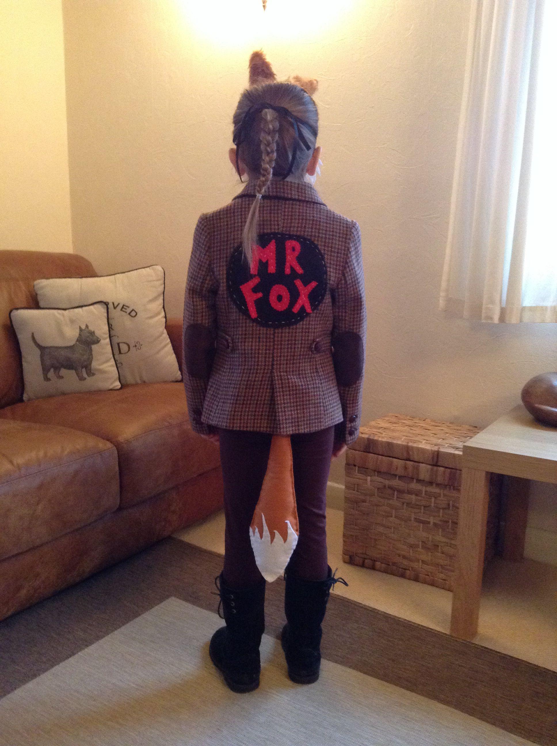 My Diy The Fantastic Mr Fox Costume Fantastic Mr Fox Costume Fancy Dress For Kids Fox Costume