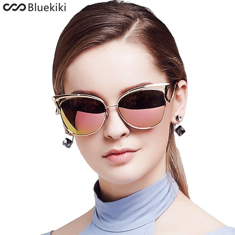 bd5b5231a6 KIKI Women Sunglasses Polarized Retro Cat Eyes Metal Driving Gold Sun  Glasses Brand Designer UV400 oculos