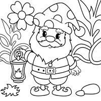 детская онлайн-раскраска «Гномик» | Раскраски, Собачки и ...
