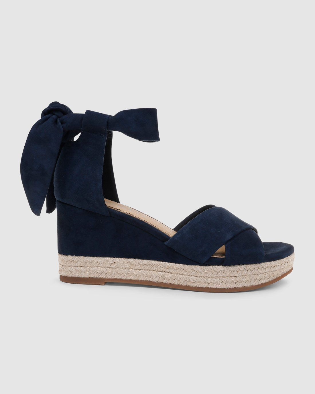 762b4337d Splendid espedrille style suede wedge sandal with ankle ties.