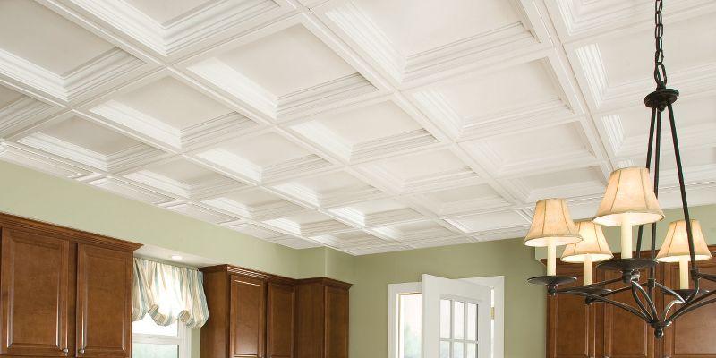 basement ceiling idea drop ceiling easy elegance deep coffer white rh in pinterest com