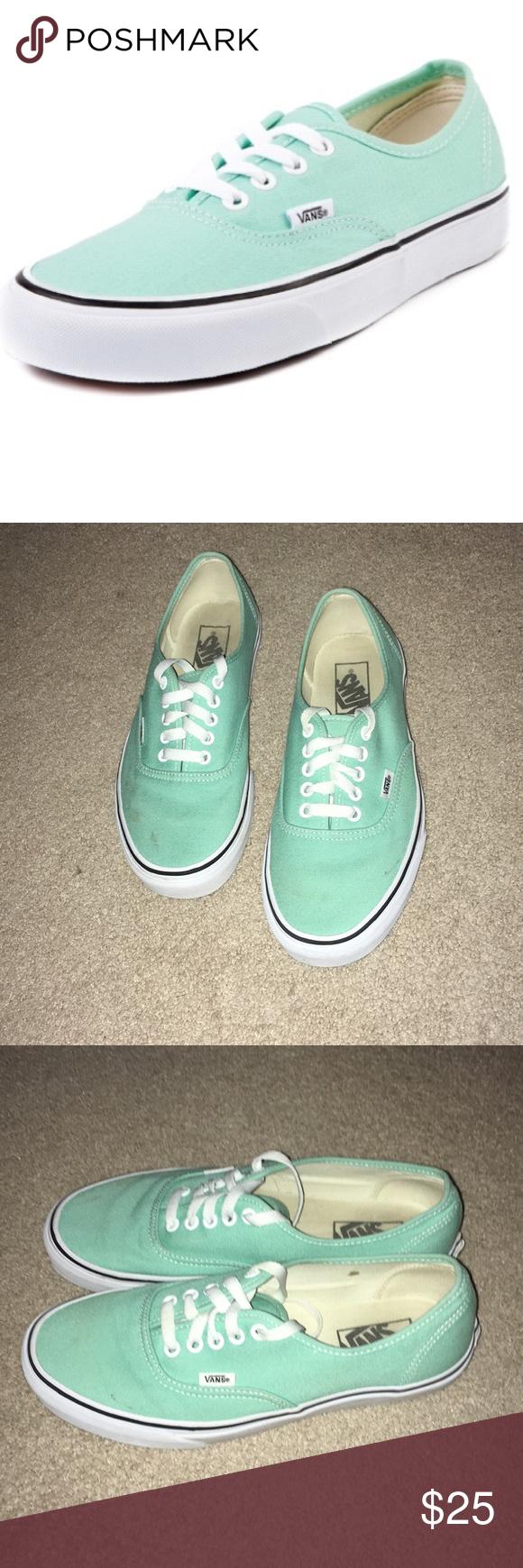 Vans! Teal light green mint Lace Up
