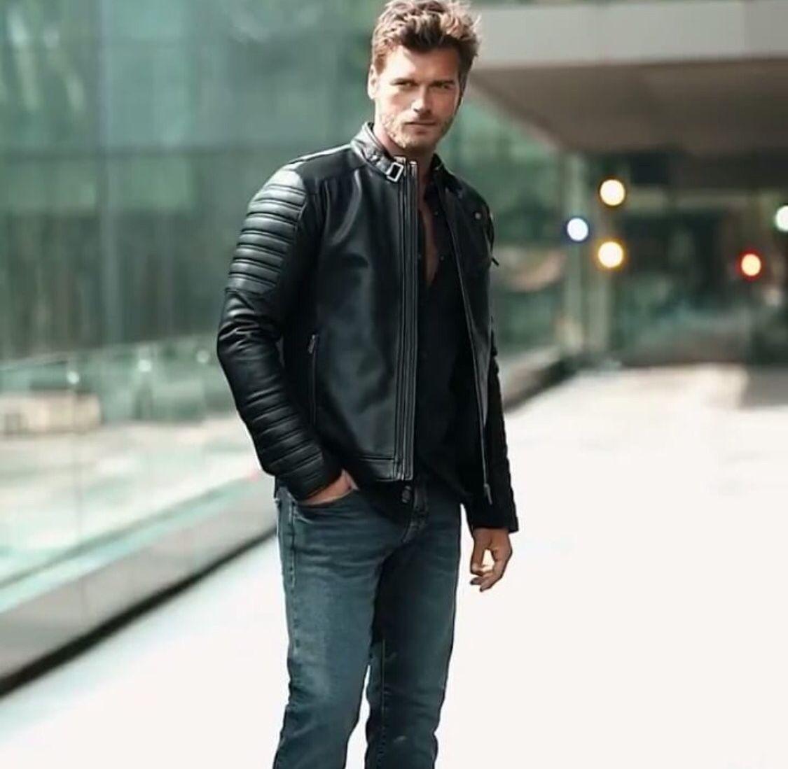 Pin By Kivanc Tatlitug North America On Kivanc Tatlitug Fashion Leather Jacket Turkish Actors [ 1099 x 1125 Pixel ]
