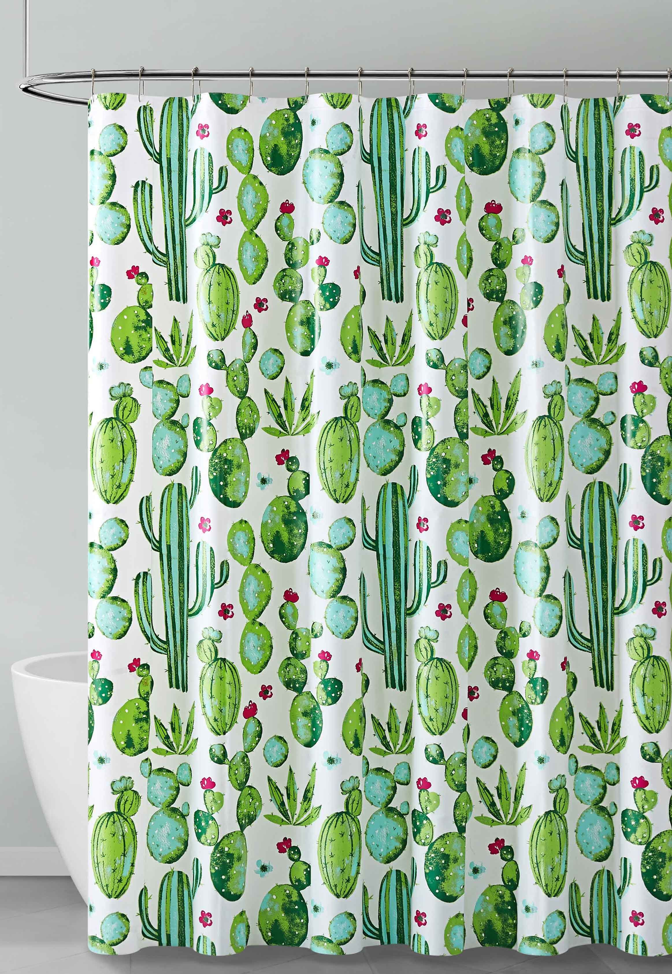 green blue red and white cactus design