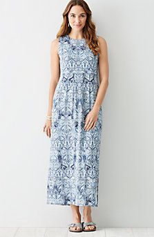 301ac39623f3 printed Empire-waist knit maxi dress | spring/summer outfits ...