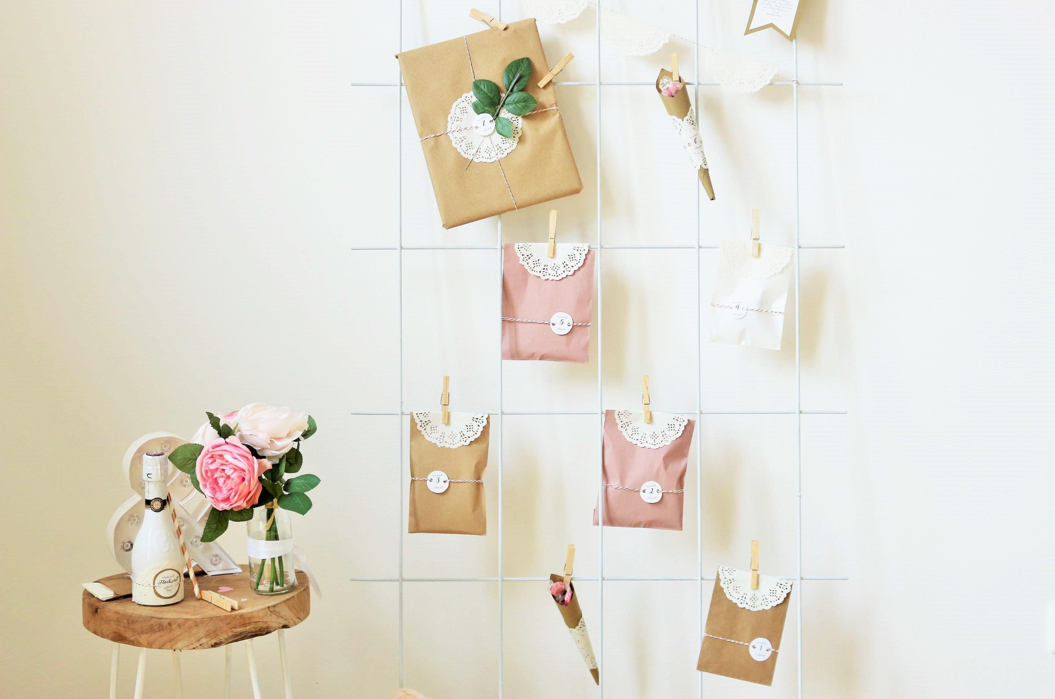 Diy Hochzeitskalender Als Geschenk Für Die Braut Basteln