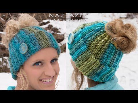 23 Free Messy Bun Hat Crochet Patterns - Make a Ponytail Beanie ...
