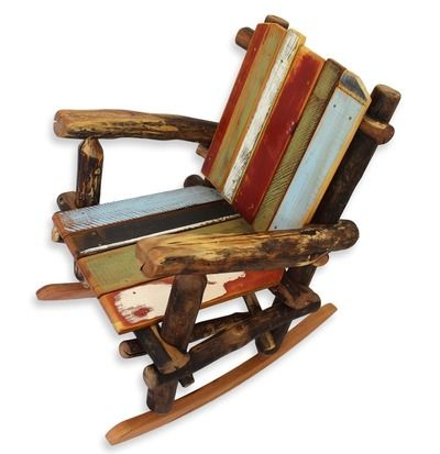 Rustic Reclaimed Wood Rocking Chair By Woodzy