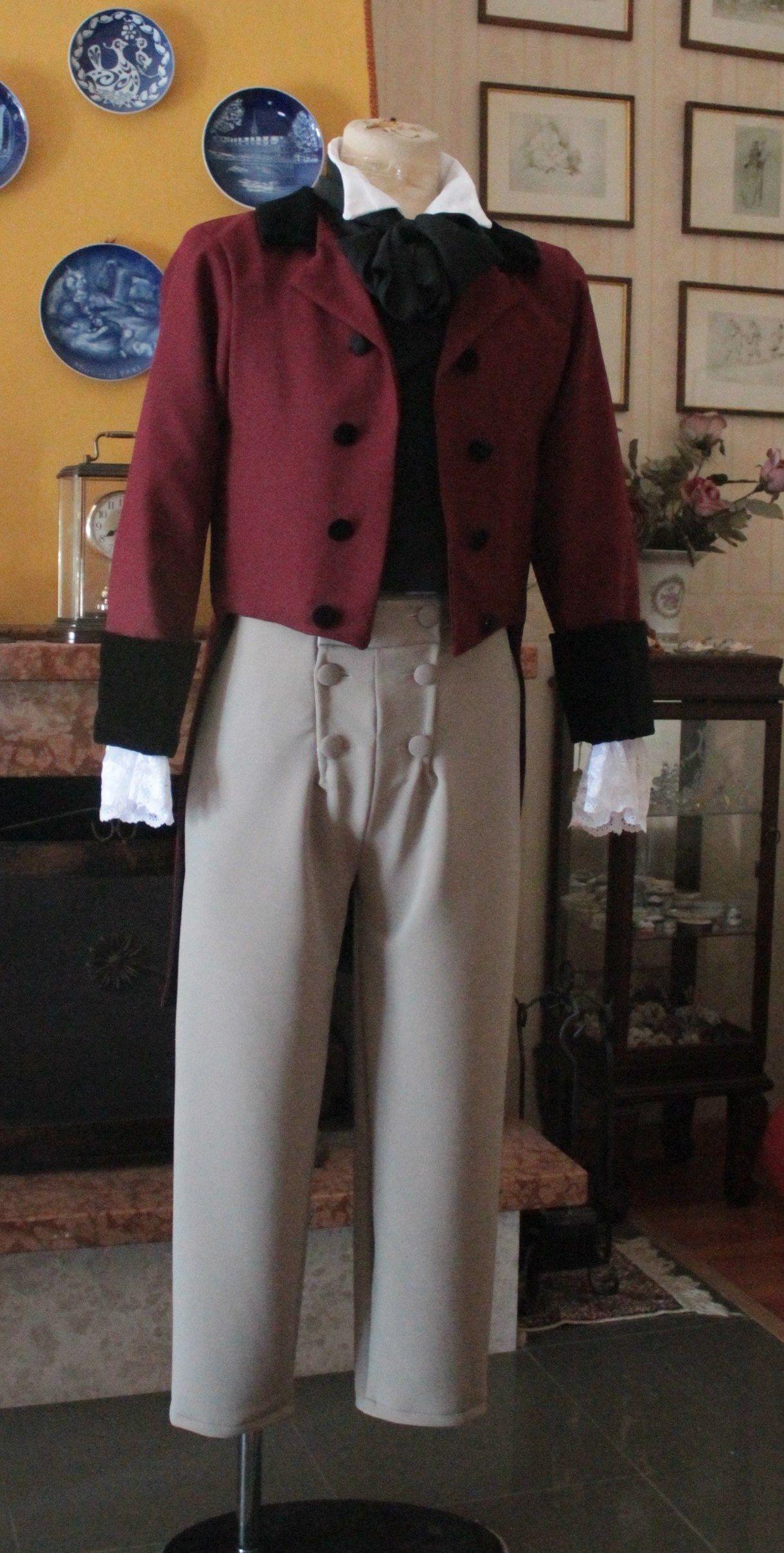 Abito storico periodo Regency 1800-1830