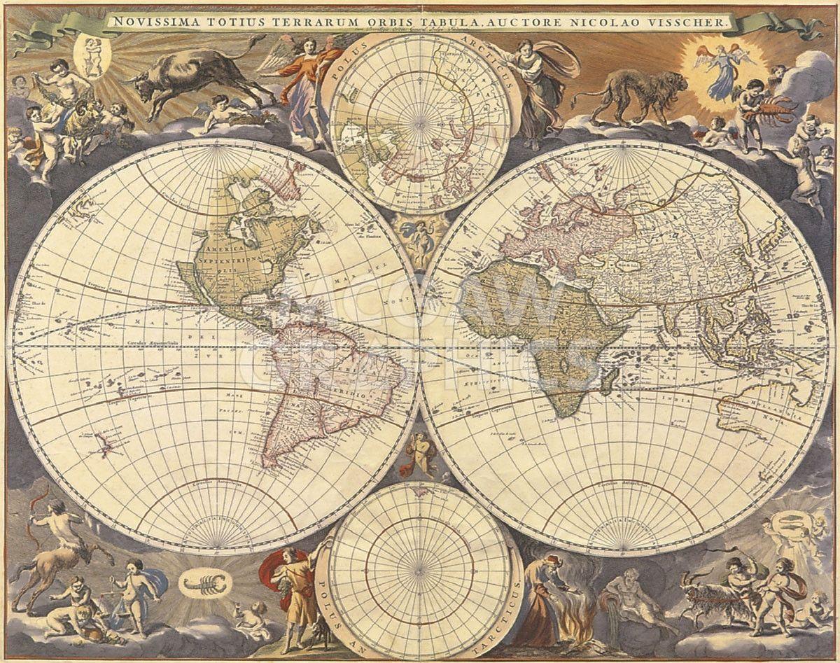 New World Map, 17th Century | Pinterest