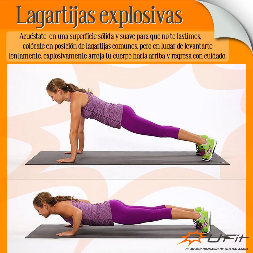 Este ejercicio es ideal para pectorales, bíceps y tríceps, hacer 30 al día hará que mantengas la firmeza en éstas partes