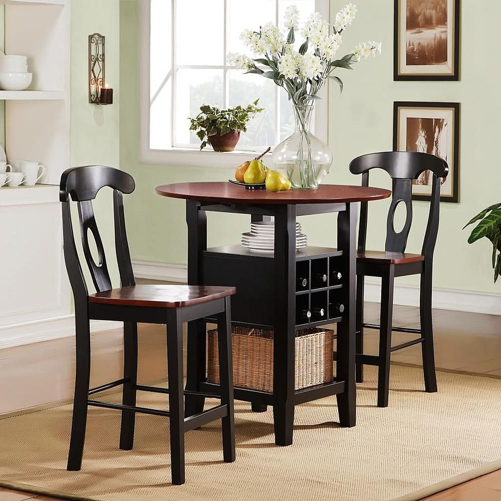 Oxford Creek 3pcs Black and Cherry Bistro Set - Home - Furniture - Dining u0026 Kitchen : 3 pcs dining table set - Pezcame.Com