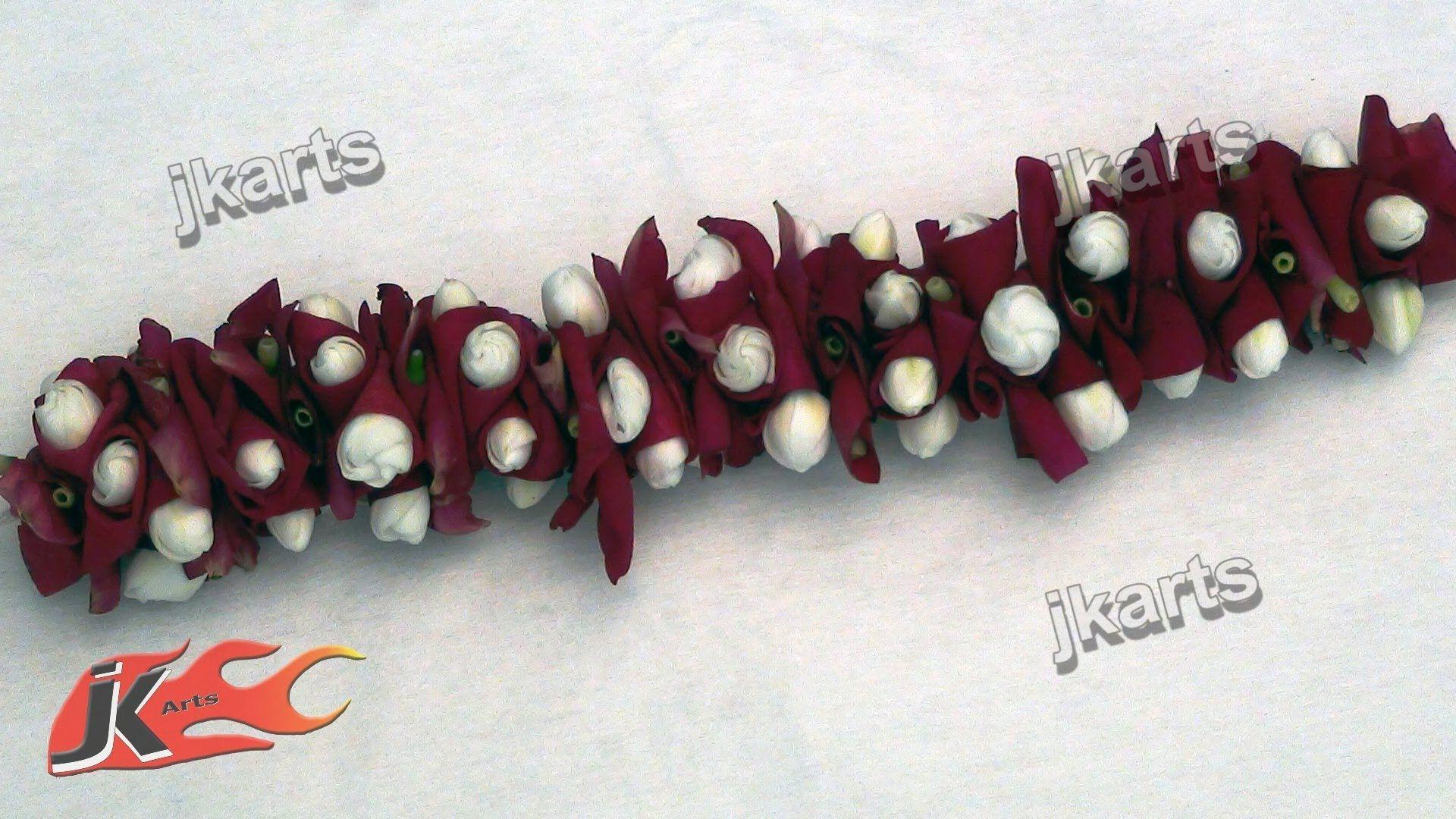 Diy how to make gajra veni traditional indian garland jk