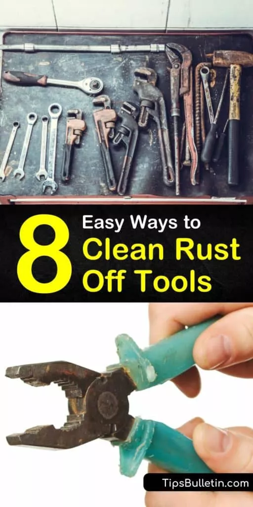 Discover how to remove rust from tools using DIY solutions with baking soda and white vinegar. Use steel wool and sandpaper for scrubbing rusty-tools and other rust removal techniques on old hand tools. #rust #tools #cleaningrustytools #removerust