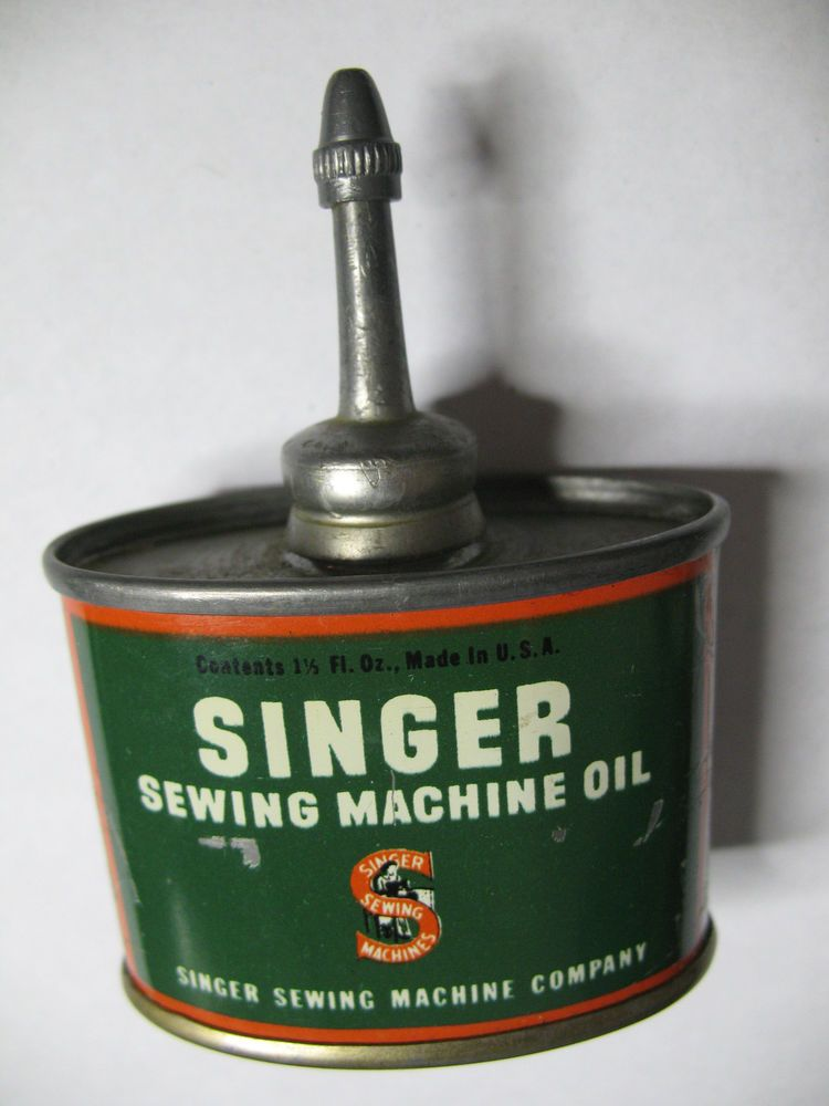 Vintage Singer Sewing Machine Oil Can Circa 1950s 1.5 Oz # ...