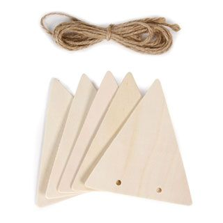 Wood Triangle Banner Shapes