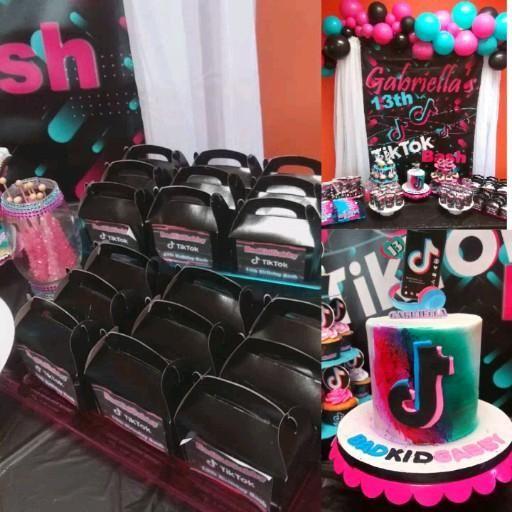Tiktok Inspired Theme Birthday Party Ideas Photo 3 Of 27 Queen Birthday Party Teenage Birthday Party 13th Birthday Parties