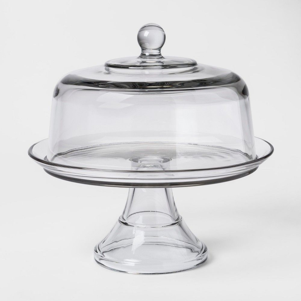 Classic Glass Cake Stand with Dome Threshold™ Kuchyně