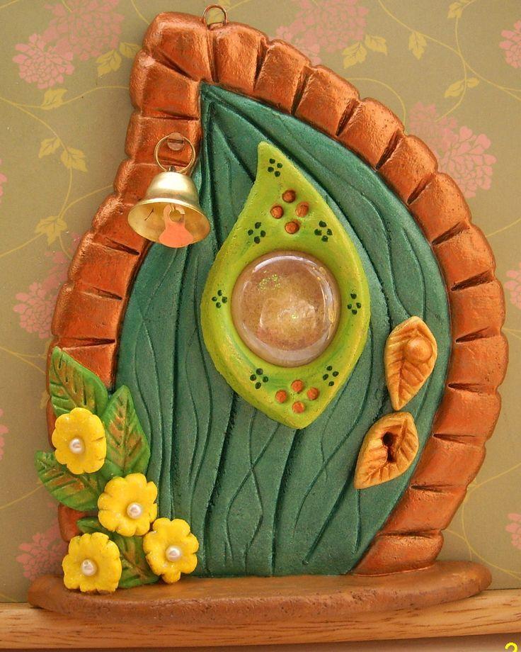 One of my salt dough fairy doors. Please visit www.facebook.com/... - #Doors #Dough #Fairy #Salt #saltdough #visit #wwwfacebookcom #saltdoughornaments