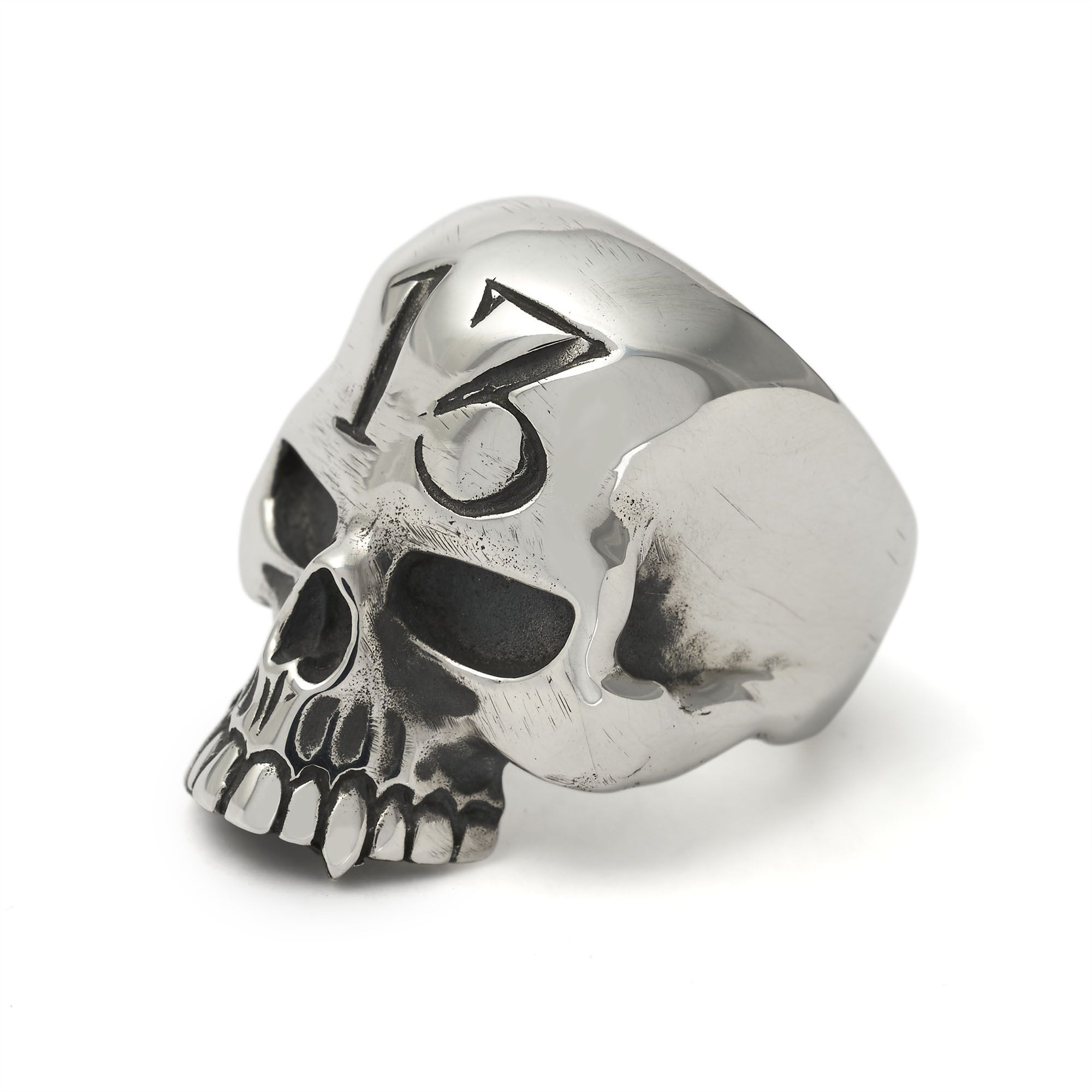 The Great Frog '13 Evil Skull' Ring Handmade In London From Hallmarked