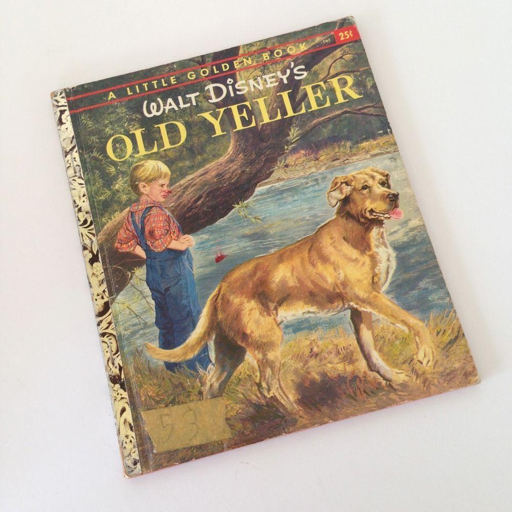 2 disney little golden books 1st ed old yeller and paul