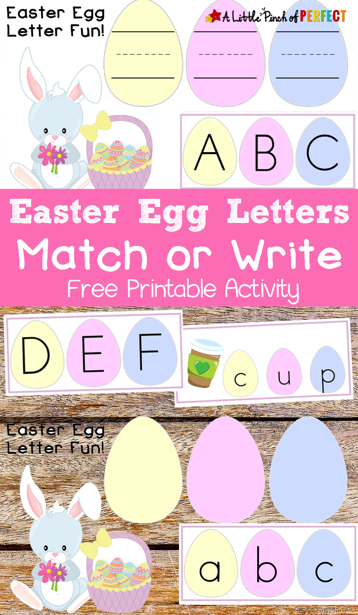 Easter Egg Letter Match Free Printable Activity for Kids ...