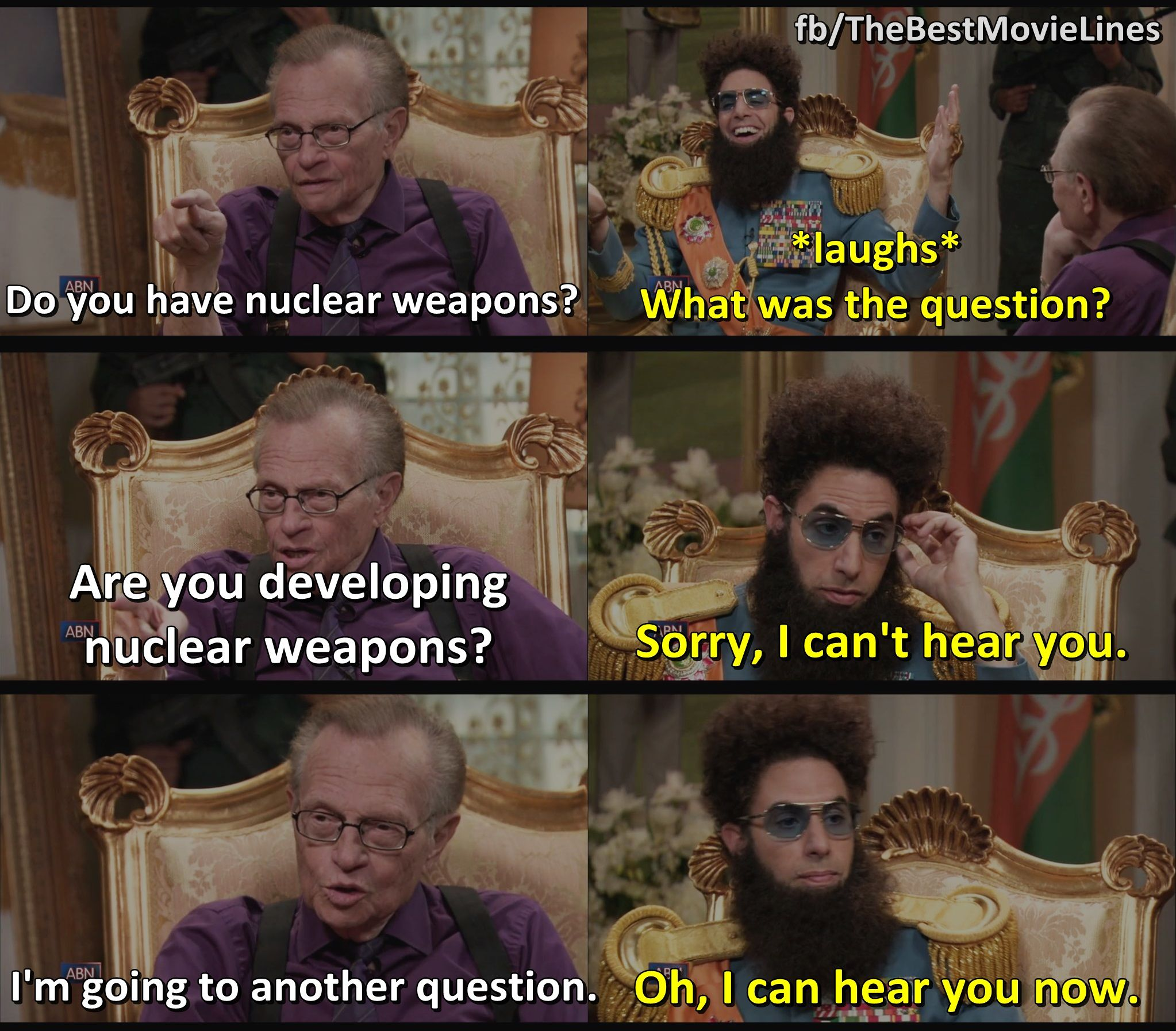 The Dictator 2012 Best Movie Lines Movie Lines Good Movies