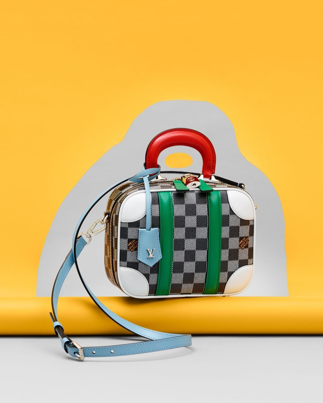 """ae564fdf2e Louis Vuitton Official on Instagram: """"#LVFW19 A preview of the new Mini  Luggage BB Damier Colors from @NicolasGhesquiere's upcoming #LouisVuitton  show."""