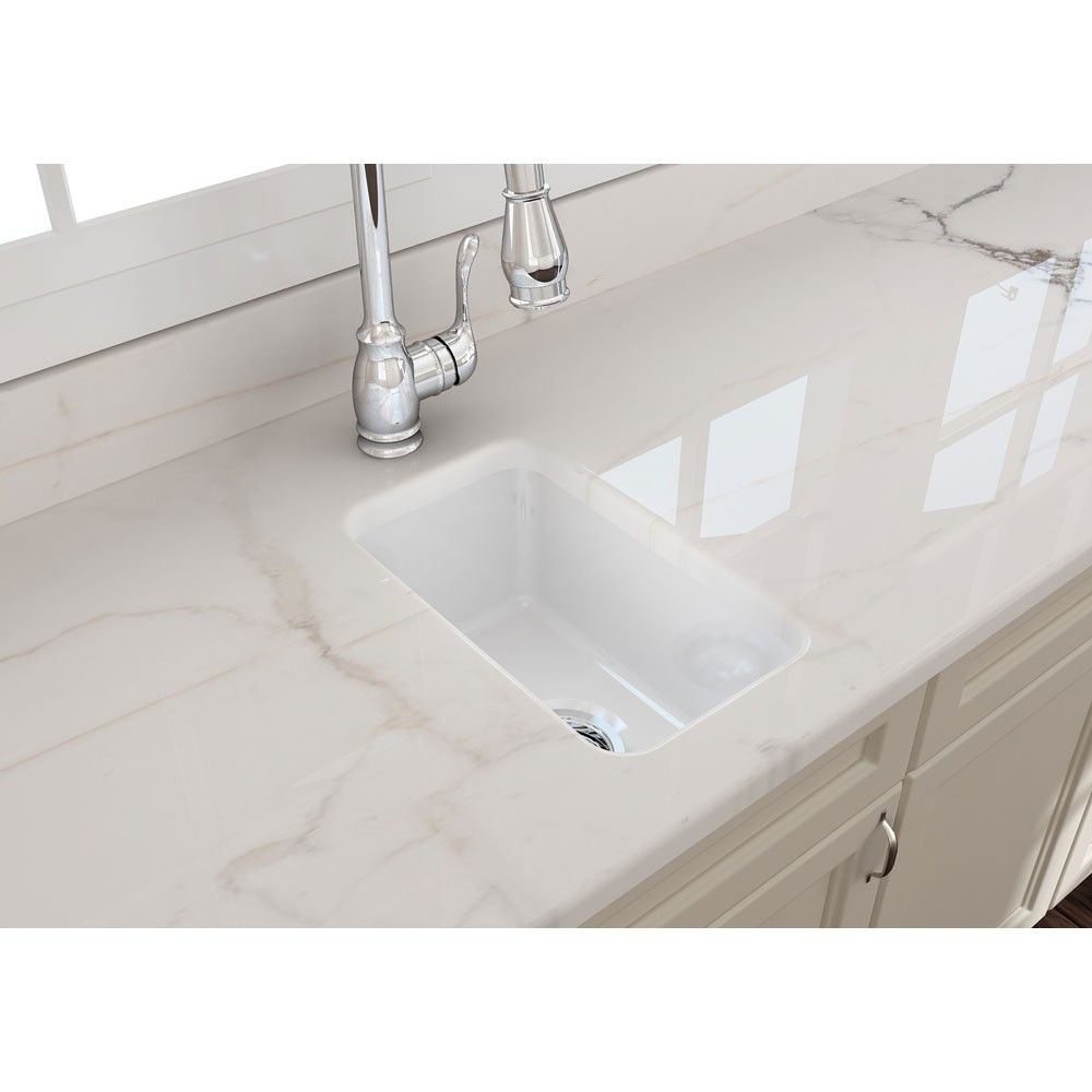 Sotto 12 In Undermount Fireclay Single Bowl Kitchen Sink With Drain Single Bowl Kitchen Sink Prep Sink Kitchen Sink Remodel