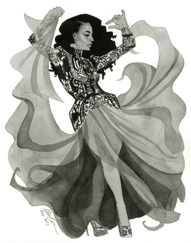 America Chavez in McQueen by kevinwada