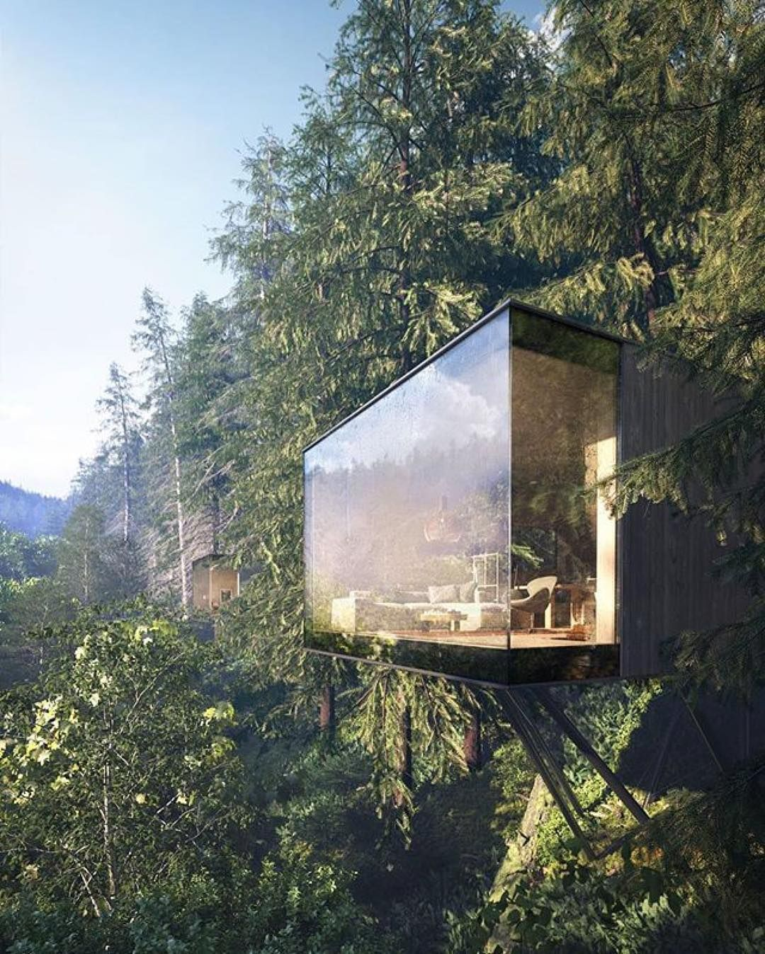 Two Hillside Cabins In The Trees By Feldman Architecture: Revugia Spa & Wellness Resort Hotel By Matthias
