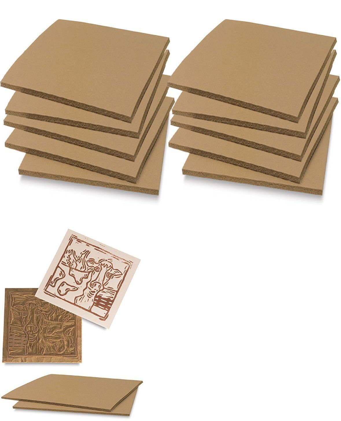 Linoleum 183109 Soft Cut 10 Pack Printmaking Carving Sheet Block Art Printing Sheets