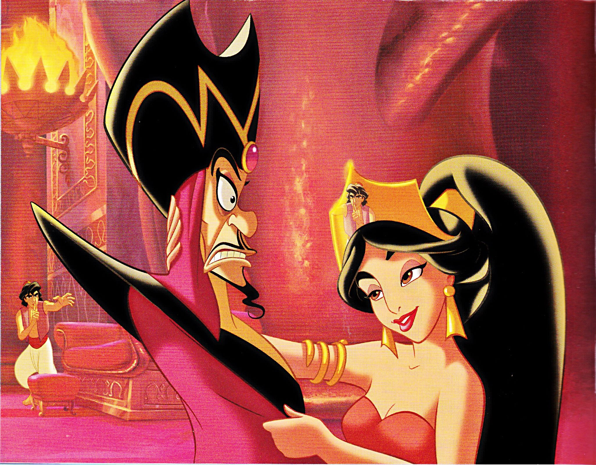 Walt Disney Book Images Prince Aladdin Jafar Princess Jasmine