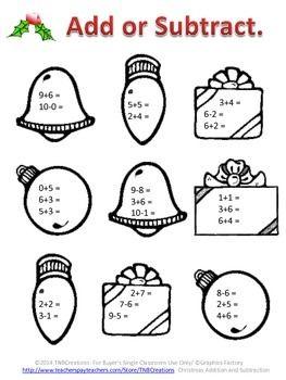 Christmas Addition Worksheets Kindergarten : Addition Worksheets ...