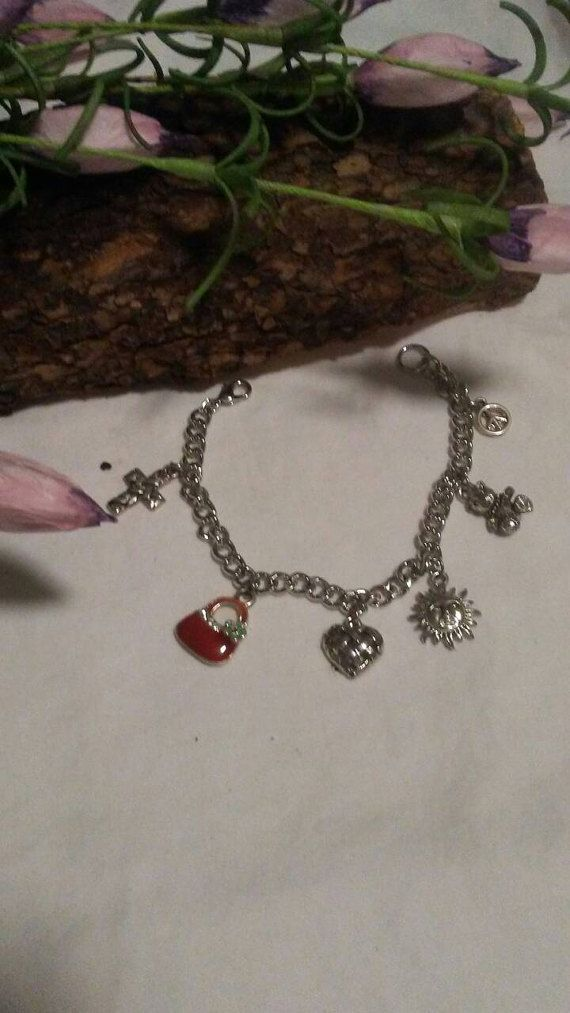 Sweet charm bracelet by luvjoy1handcraft on Etsy