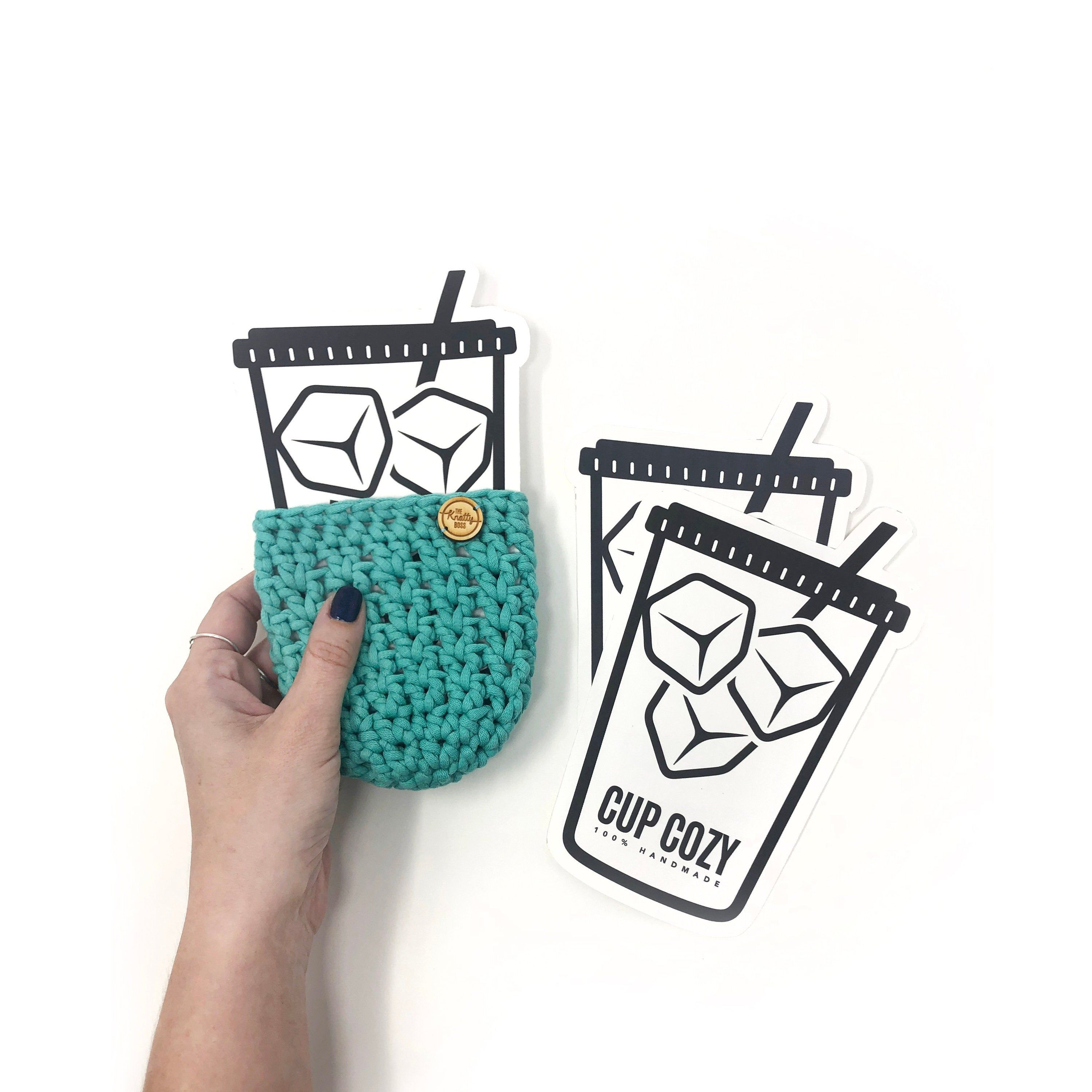 PRINTABLE Ice Cup Cozy Template Downloadable PDF Iced