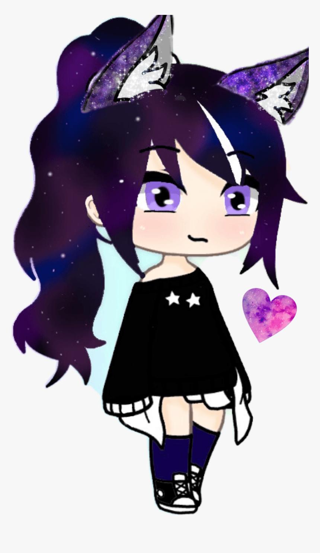 Gacha Life Girl Anime Wolf Girl Galaxy Wolf Cute Cartoon Drawings