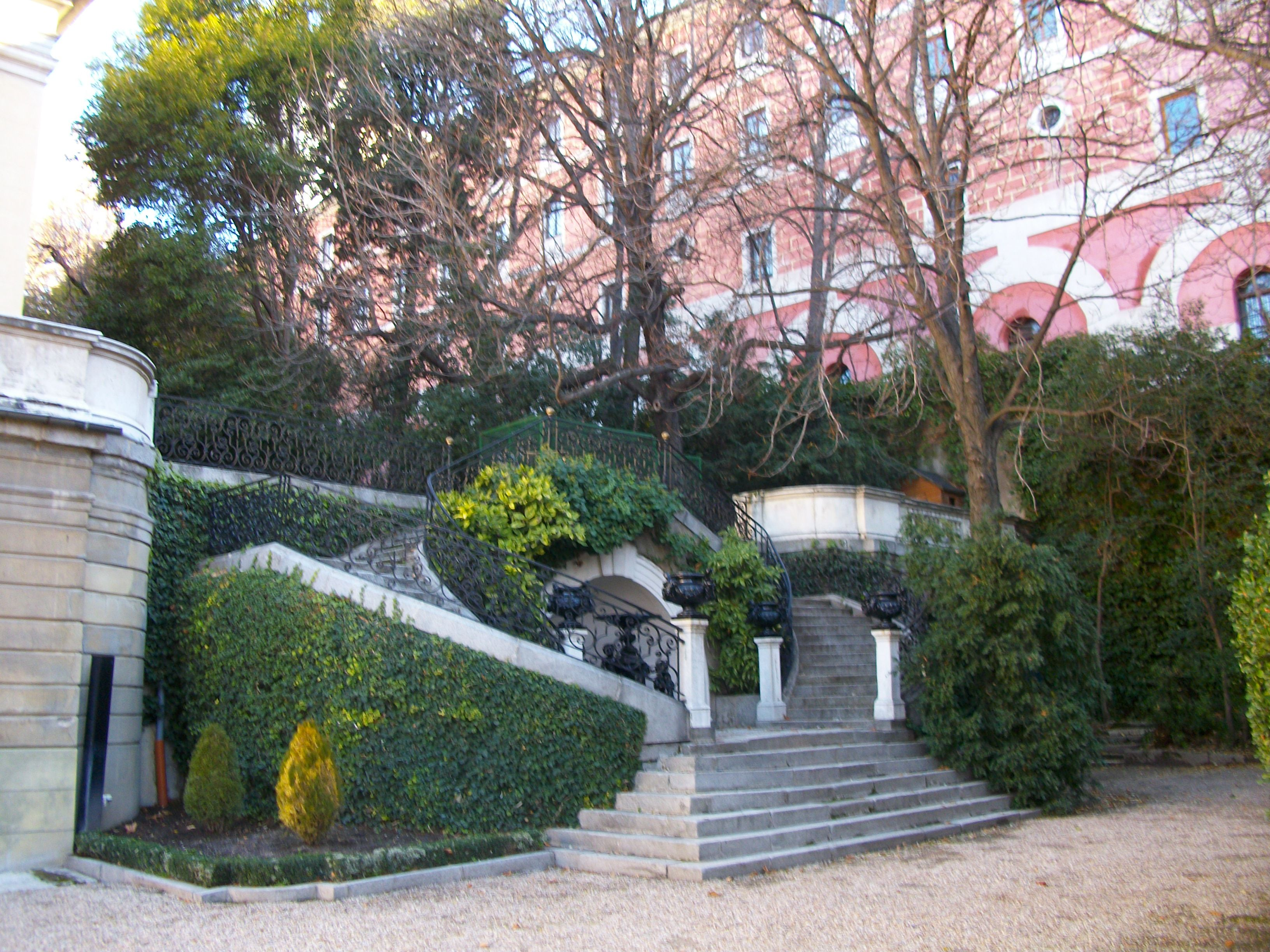 Corner Liria Palace gardens designed as a peculiar graveyard for family pets Alba