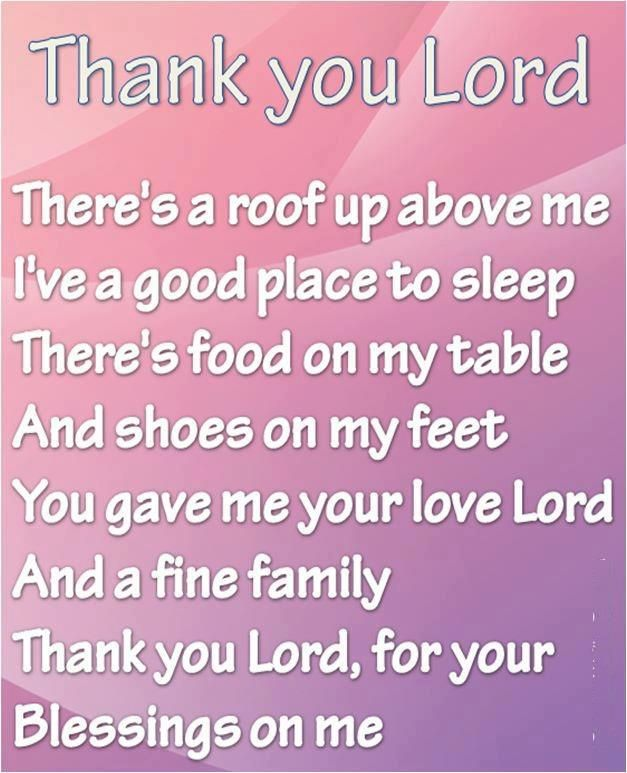 Thank You Jesus For Your Blessing Prayer Quotes Thank You Lord