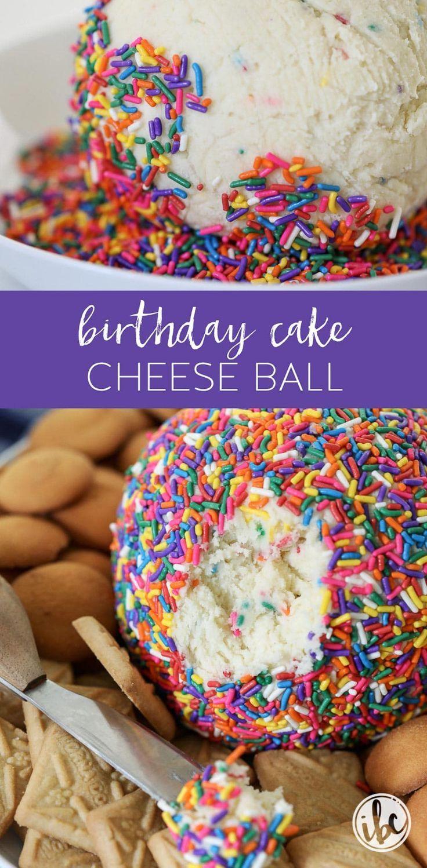Birthday Cake Cheese Ball (dessert recipe)