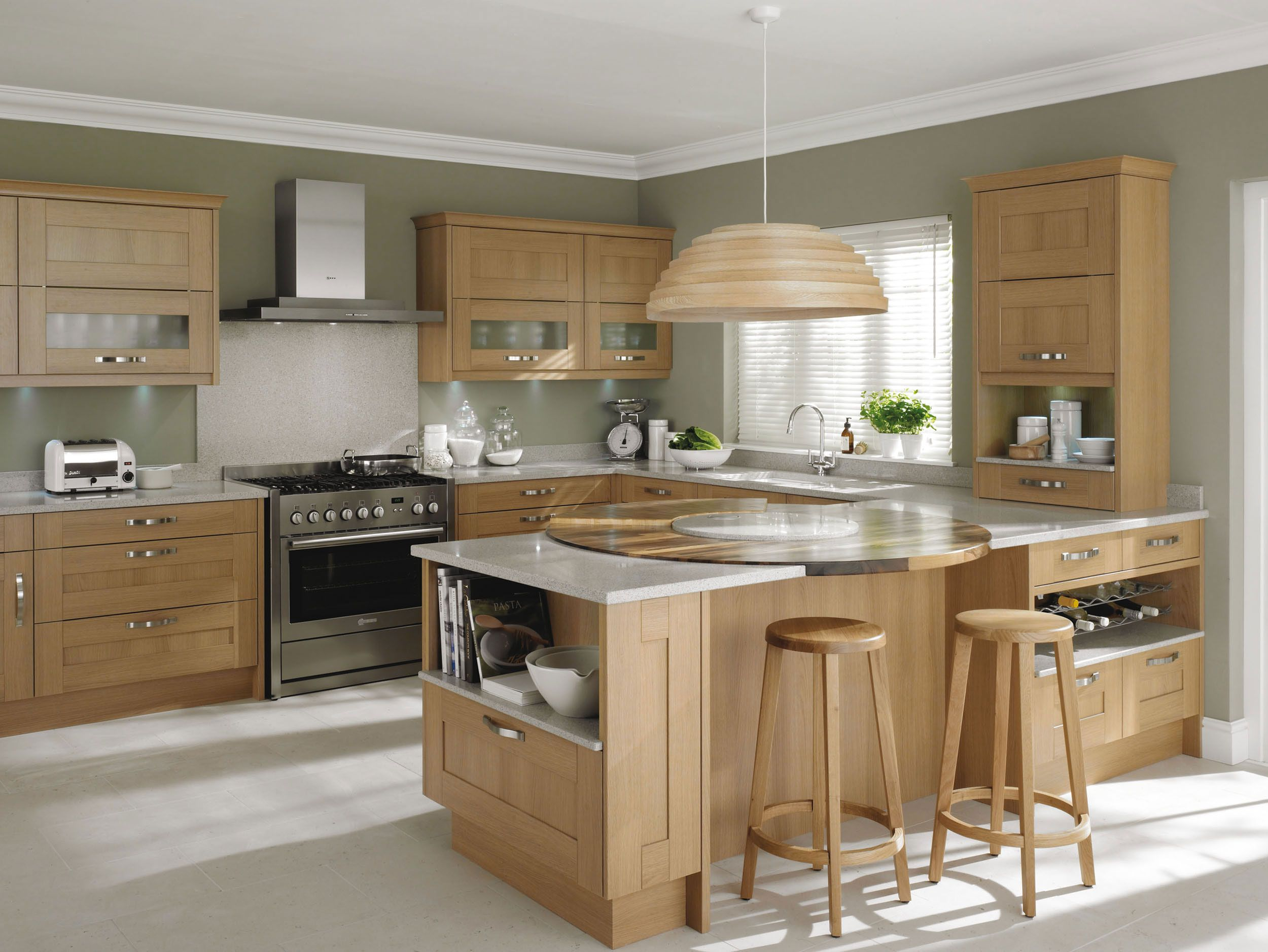Oak kitchen ideas google search home kitchens for Modern kitchen units designs