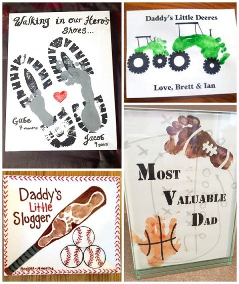 Fathers Day Footprint Kids Crafts Father S Day Ideas Fathers Day