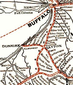 Dunkirk New York Map on