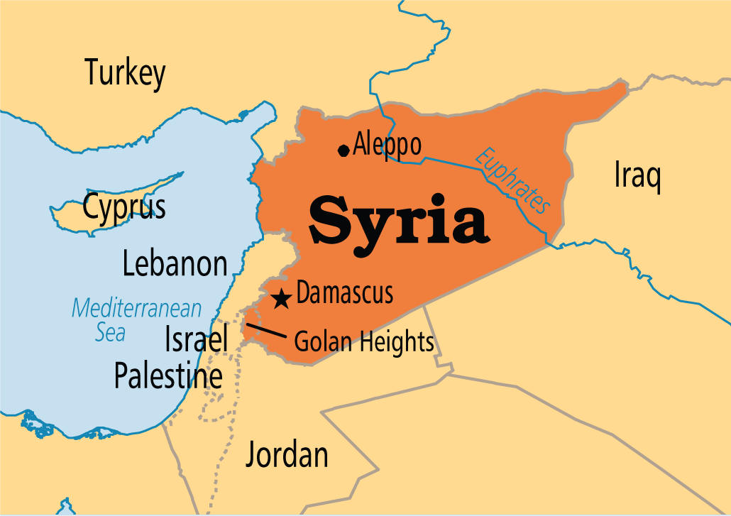 A Map Of Syria Class Whats Going On Pinterest - Map of syria