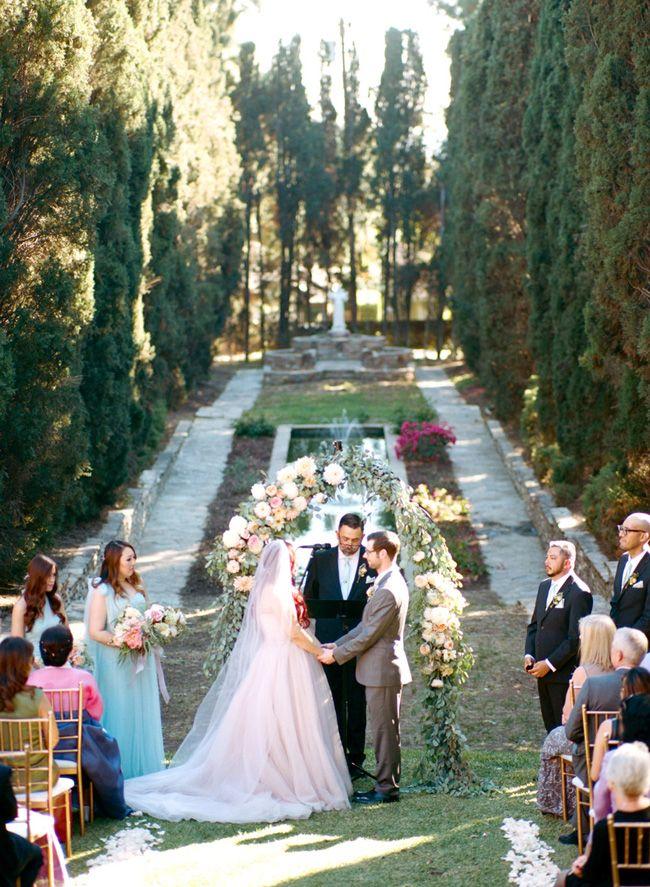 A Garden Wedding At Villa Del Sol D Oro In Sierra Madre