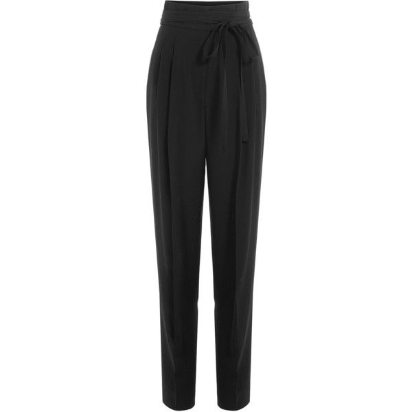 Marc Jacobs High-Waisted Pants (£461) ❤ liked on Polyvore featuring pants, black, slim trousers, high waisted pants, high rise pants, high waisted trousers and slim pants