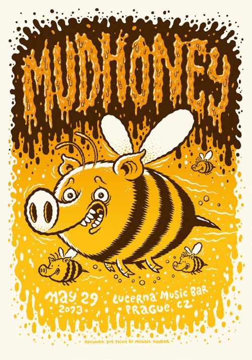 New Posters for Green Day and Mudhoney by Michael Hacker