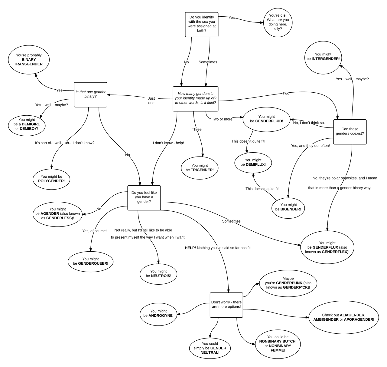Non binary flow chart stonewall pinterest flowchart flowchart nvjuhfo Image collections