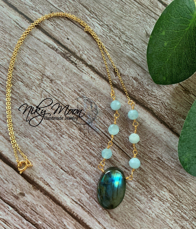 Boho Gemstone Pendant Necklace