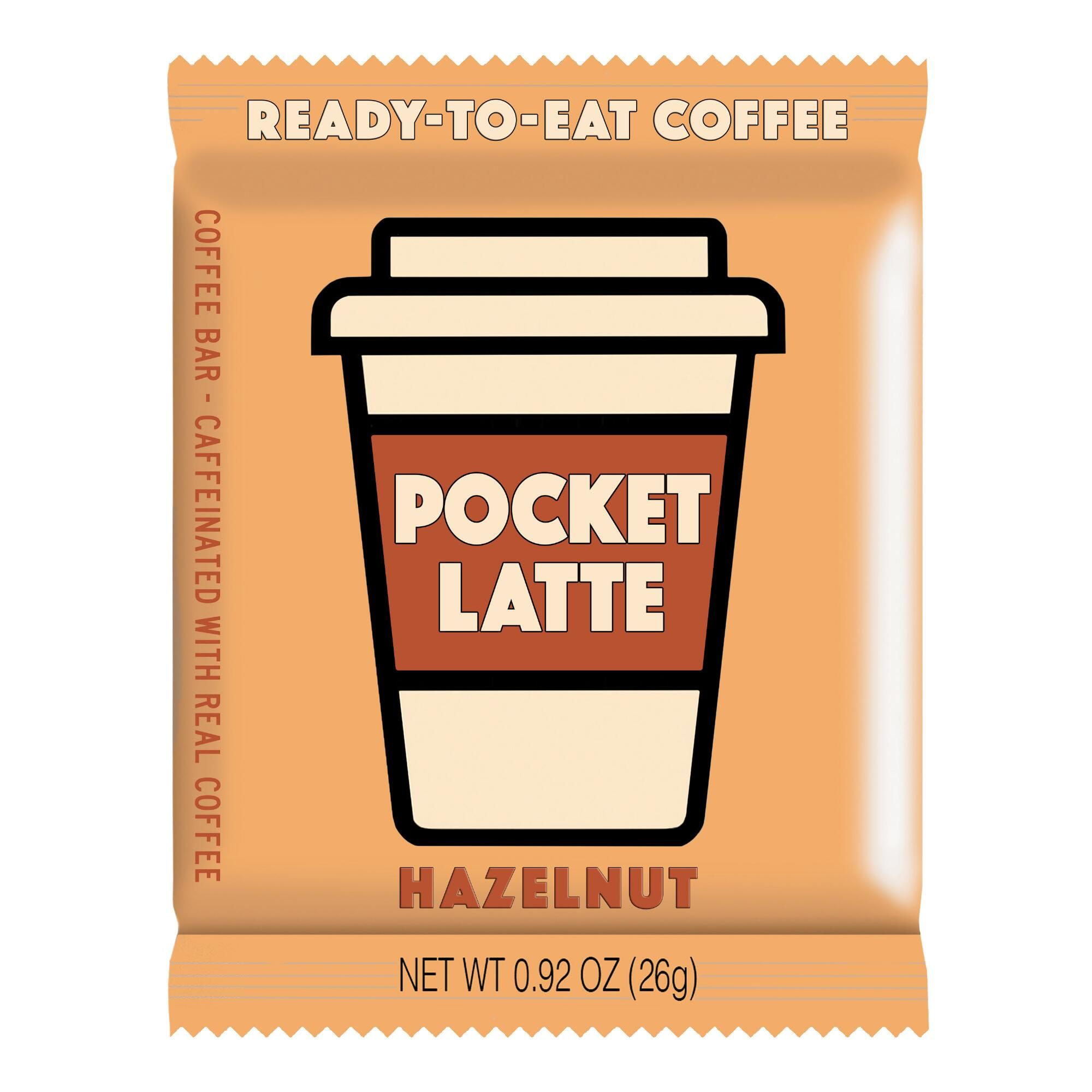 Food And Drink -With all the kick of your favorite coffee beverage and all the convenience of a tasty chocolate bar - no spills, no waiting in line - this energy snack has crunchy hazelnut pieces in the mix and tastes like a cup of light hazelnut coffee. Made with organic, non-GMO ingredients, one square is equivalent to one cup of coffee and can be eaten anytime, anywhere for a quick boost.   Also could be used for food,sweets,treats,candy bar,hard candy,chewy candy,chocolate,dark chocolate,mil